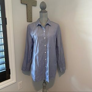 Wilfred Free men's style cotton button down blue